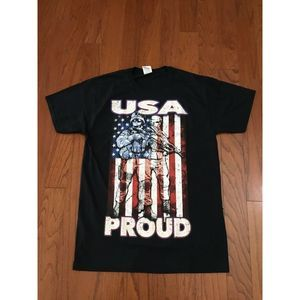 """""""USA Proud"""" Armed Services Tribute T-Shirt Medium"""